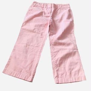 J crew Favorite fit pink cropped wide leg pants